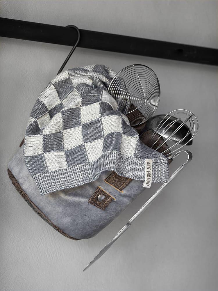 20100 knit factory keukendoek block ecru 4