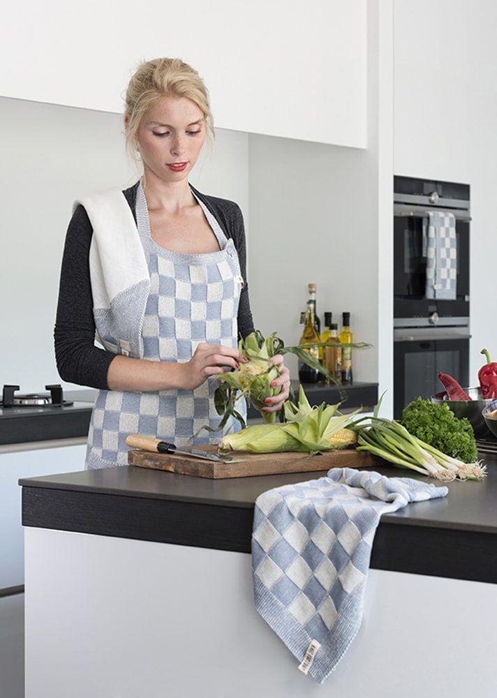 20104 knit factory keukenschort grote blok 2 kleuren ecru 4