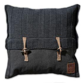 6x6 Rib Cushion Anthracite - 50x50