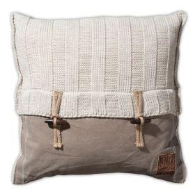 6x6 Rib Cushion Beige - 50x50