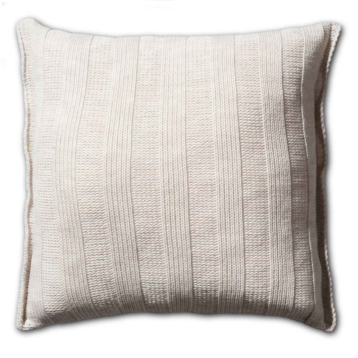 6x6 rib cushion beige 50x50