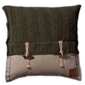6x6 Rib Cushion Green - 50x50