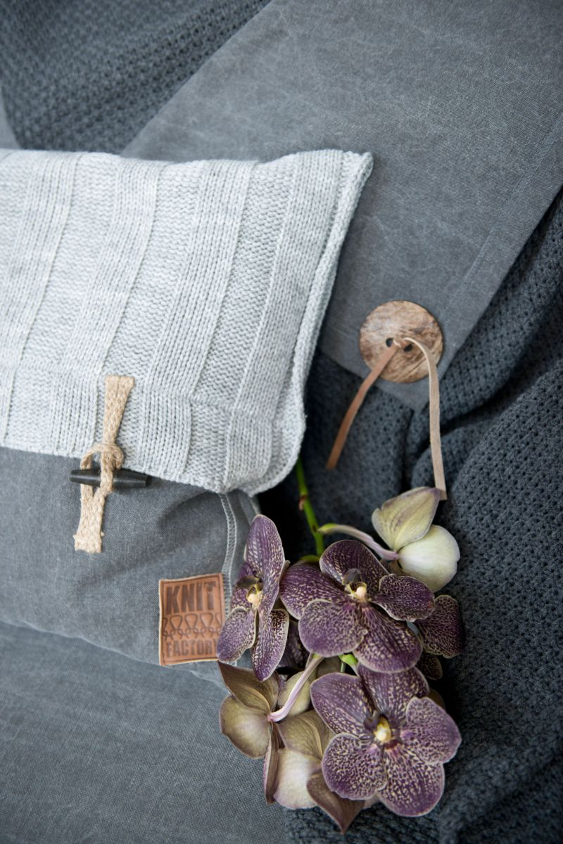 6x6 rib cushion green 50x50