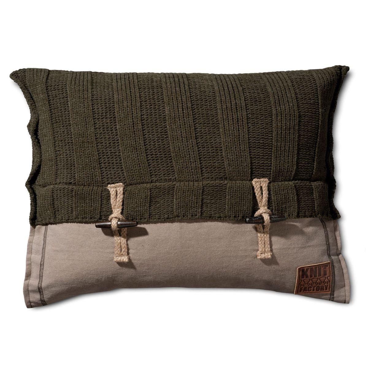 6x6 rib cushion green 60x40