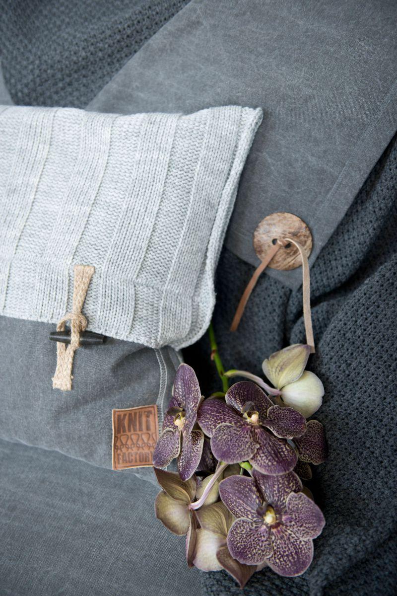 6x6 rib cushion light grey 50x50