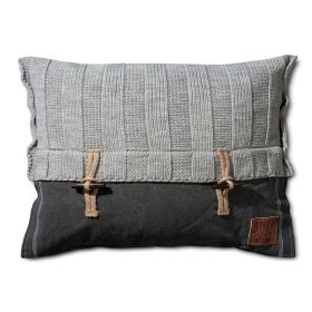 6x6 Rib Cushion Light Grey - 60x40