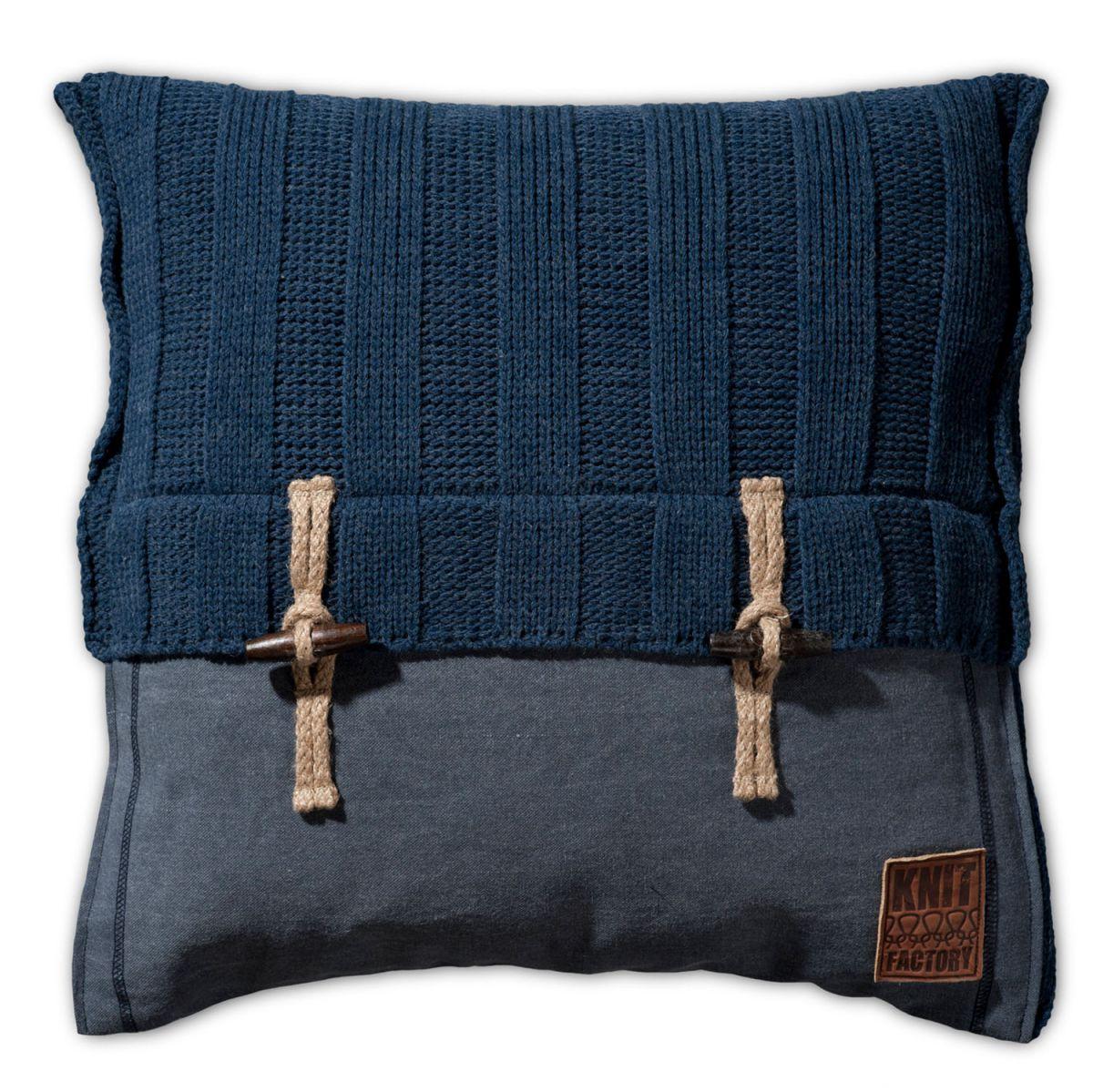 6x6 rib kissen jeans 50x50