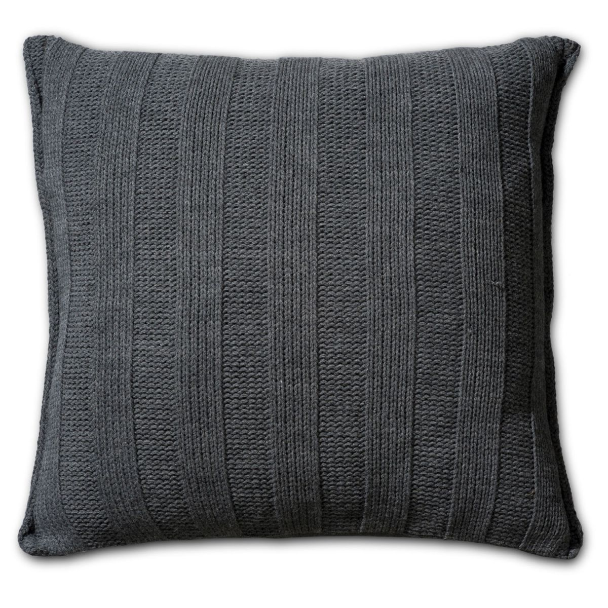 knit factory 1121210 kussen 50x50 6x6 rib antraciet 2