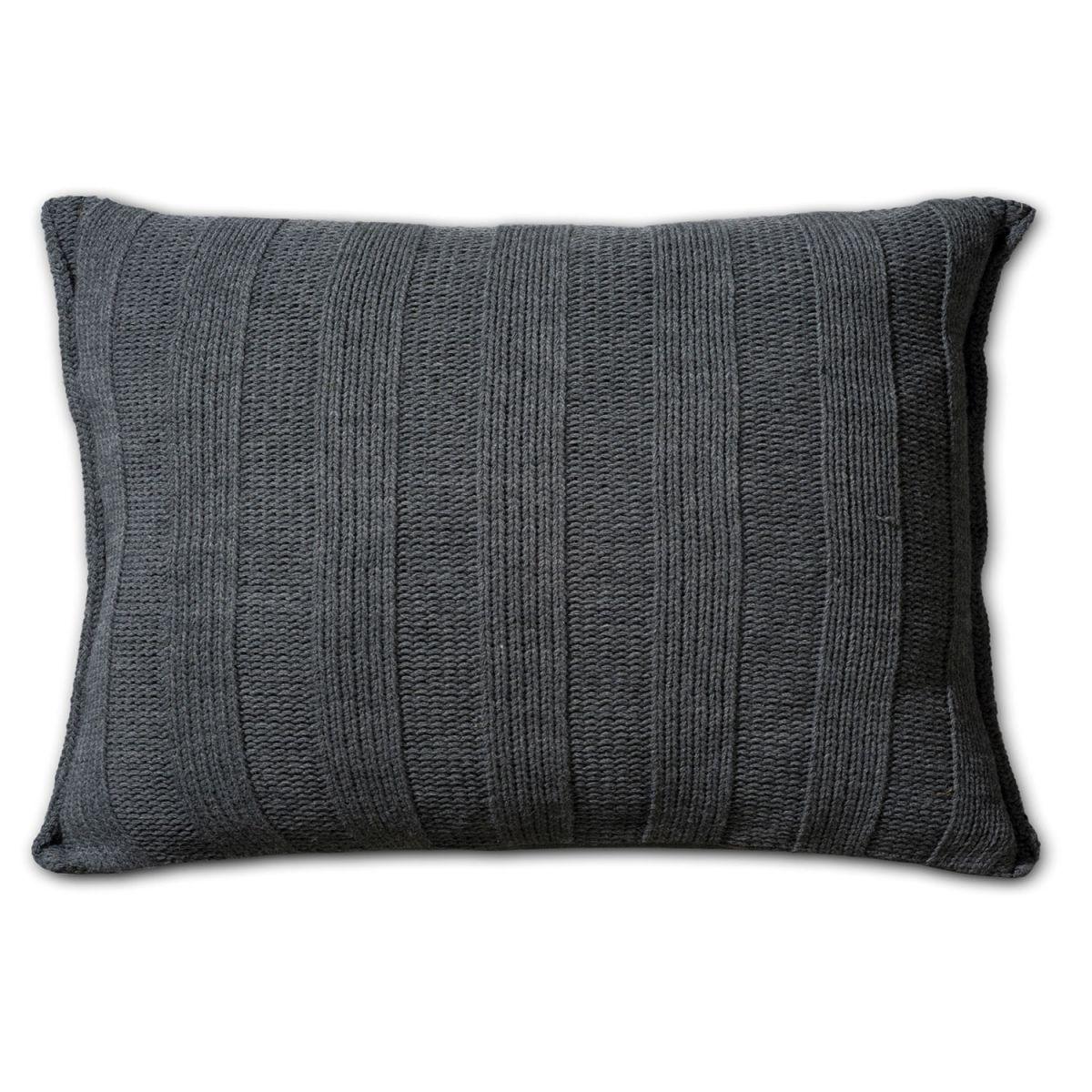 knit factory 1121310 kussen 60x40 6x6 rib antraciet 2