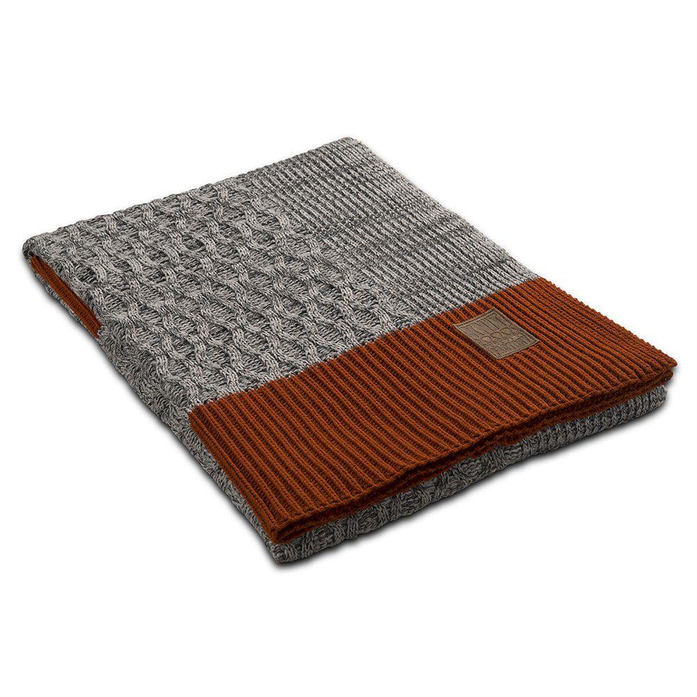 knit factory 1021101 plaid joep licht grijs melee