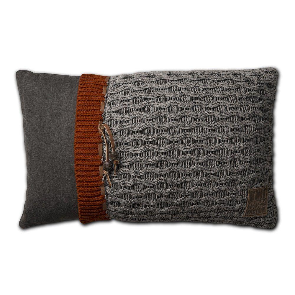 knit factory 1021301 kussen 60x40 joep licht grijs melee