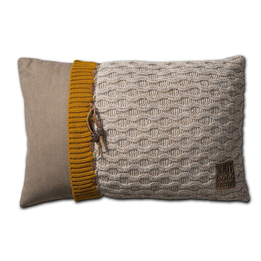 knit factory 1021302 kussen 60x40 joep beige melee