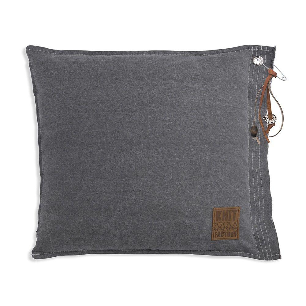 knit factory 1061211 mara kussen50x50 licht grijs 1