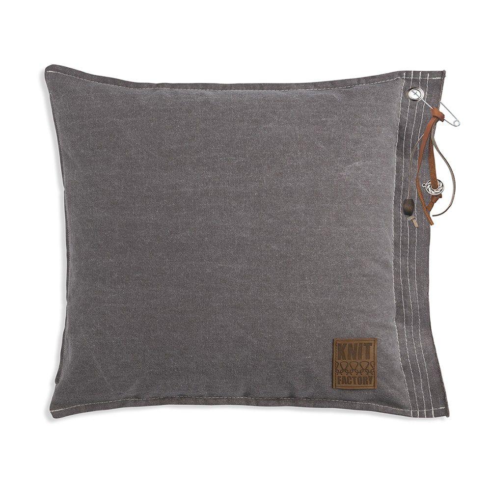 knit factory 1061229 mara kussen50x50 taupe 1