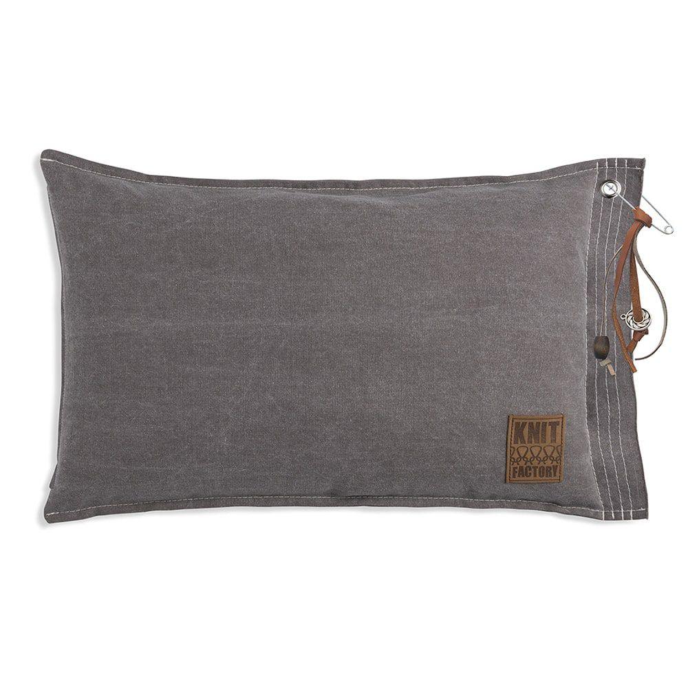 knit factory 1061329 mara kussen60x40 taupe 1