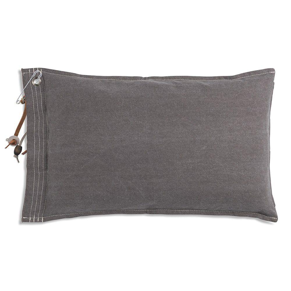 knit factory 1061329 mara kussen60x40 taupe 2