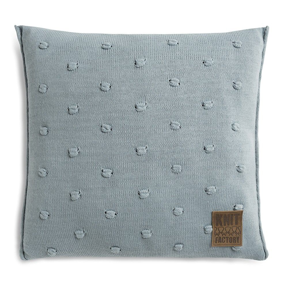 knit factory 1071209 kussen 50x50 noa stone green 1
