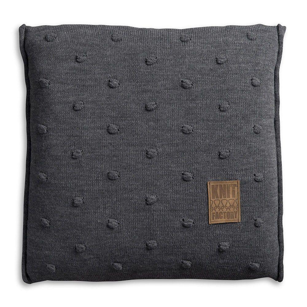 knit factory 1071210 kussen 50x50 noa antraciet 1