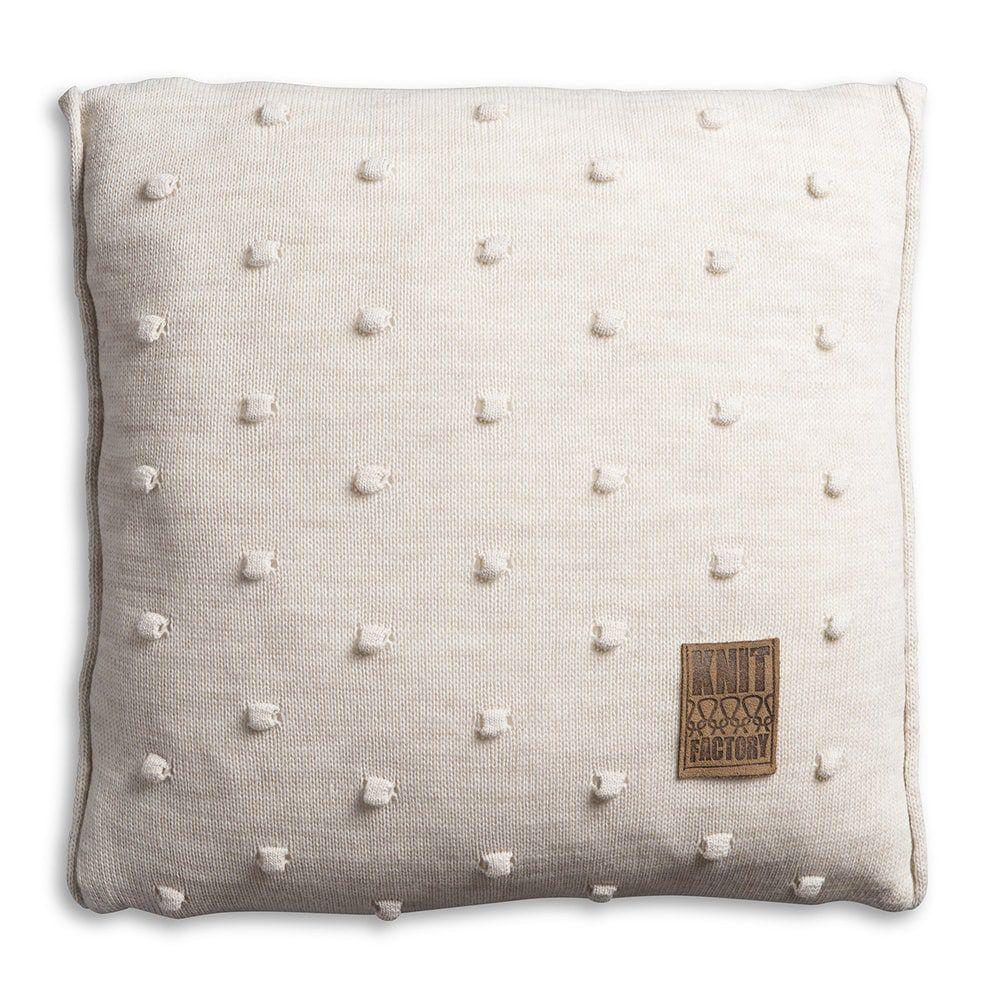 knit factory 1071212 kussen 50x50 noa beige 1