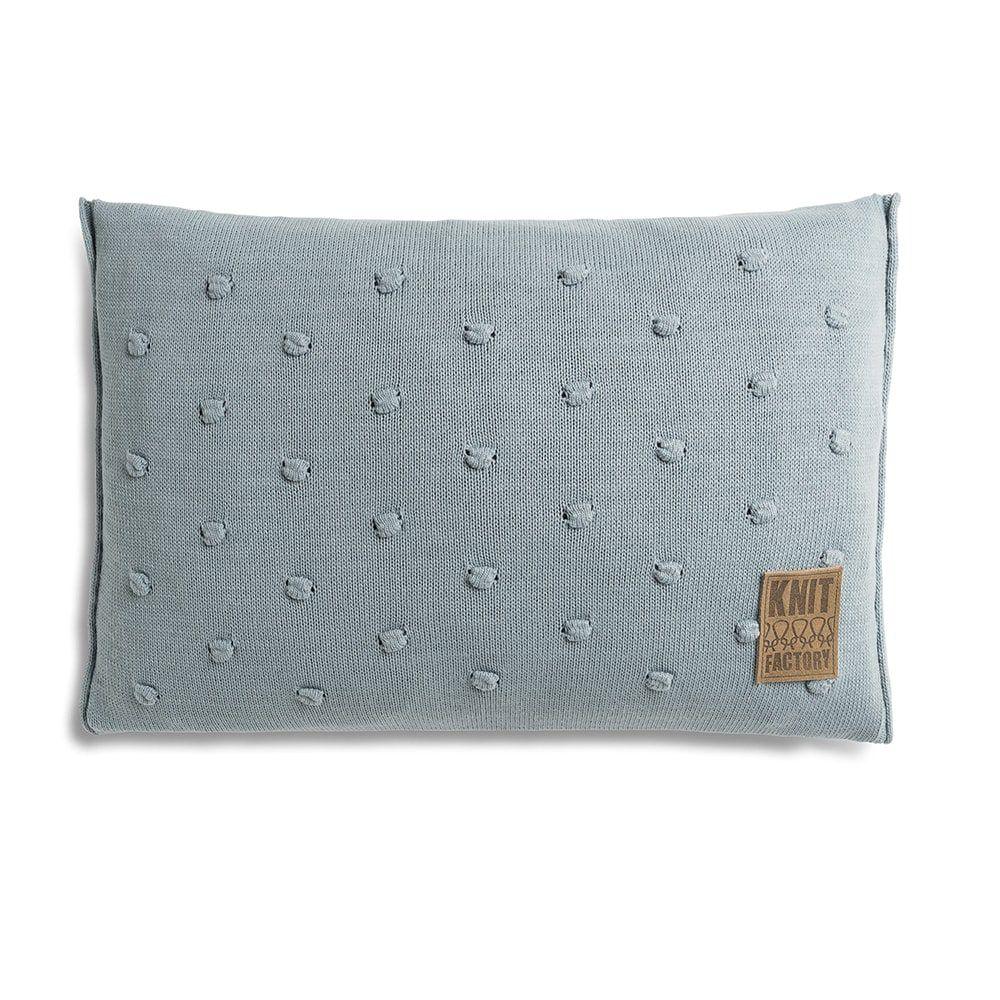 knit factory 1071309 kussen 60x40 noa stone green 1