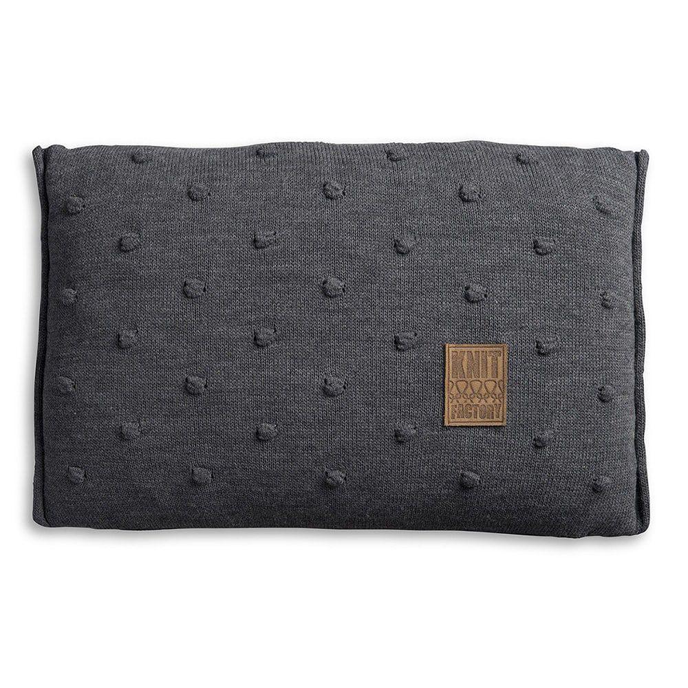 knit factory 1071310 kussen 60x40 noa antraciet 1