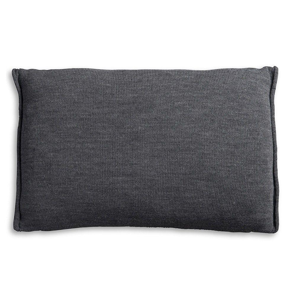knit factory 1071310 kussen 60x40 noa antraciet 2