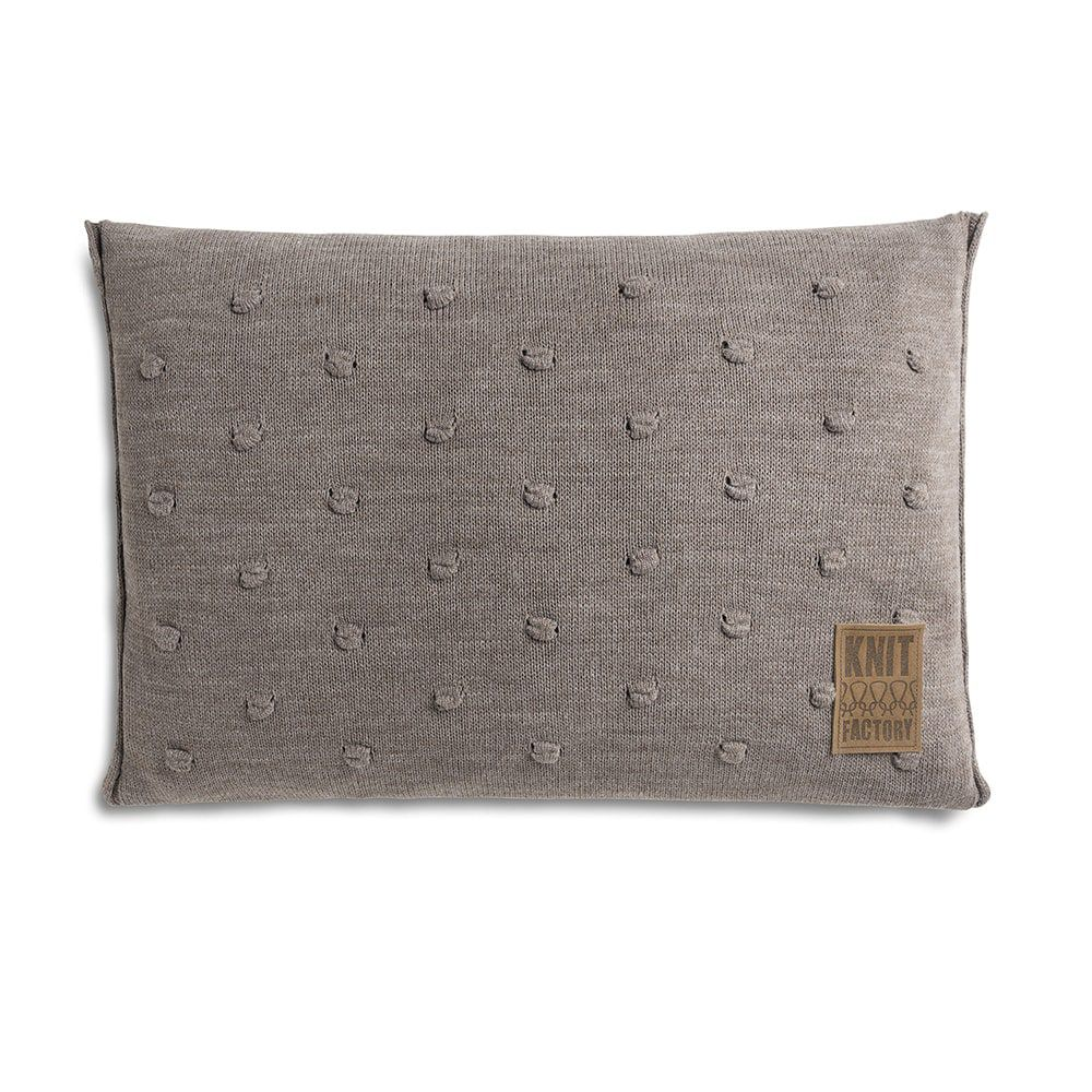 knit factory 1071329 kussen 60x40 noa taupe 1