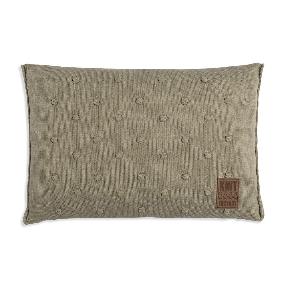 knit factory 1071333 kussen 60x40 noa olive 1