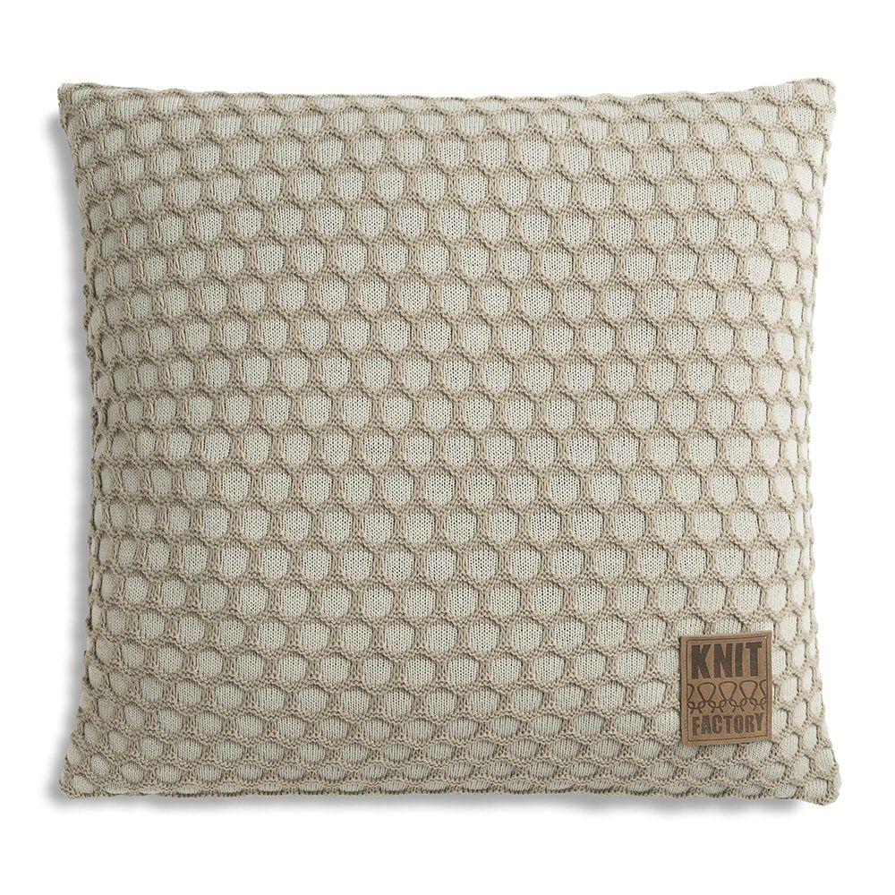 knit factory 1081257 kussen 50x50 mila seda olive 1
