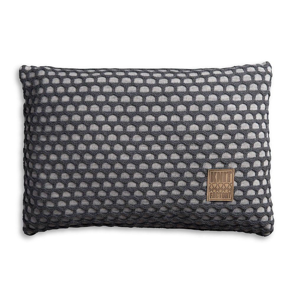 knit factory 1081351 kussen 60x40 mila licht grijs antraciet 1