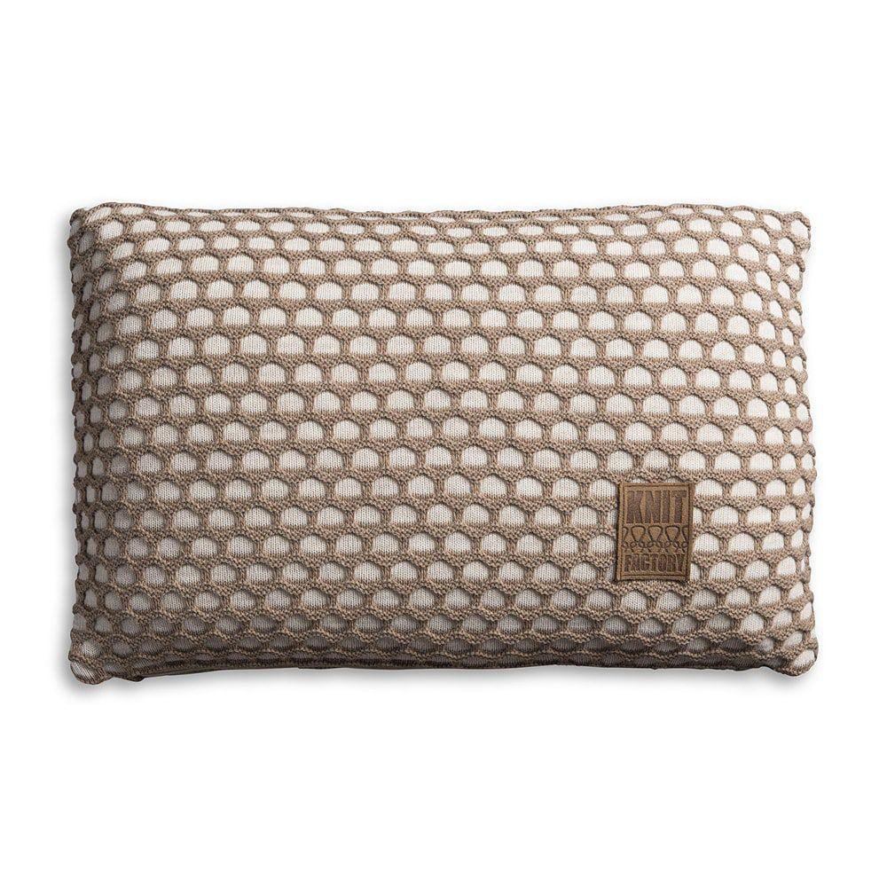 knit factory 1081352 kussen 60x40 mila beige marron 1