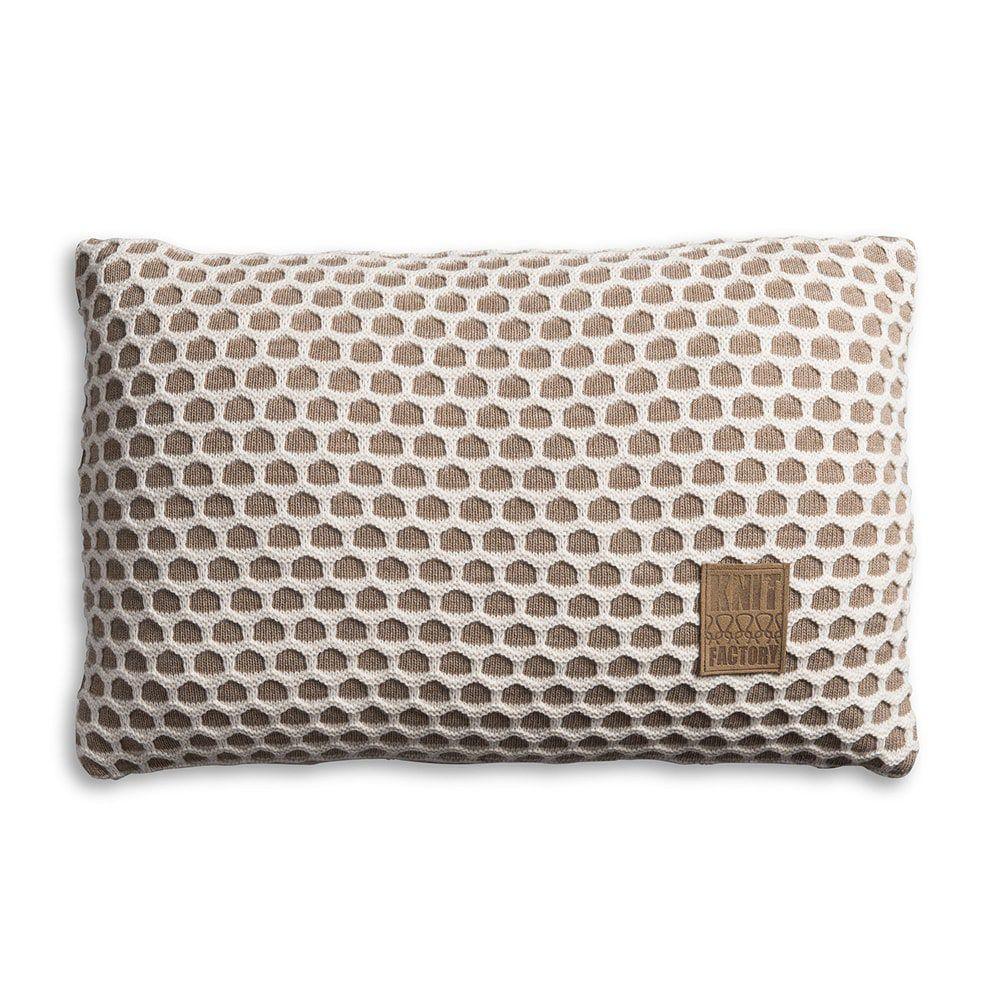 knit factory 1081353 kussen 60x40 mila marron beige 1