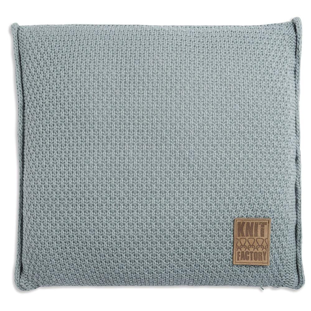 knit factory 1091209 kussen 50x50 jesse stone green1