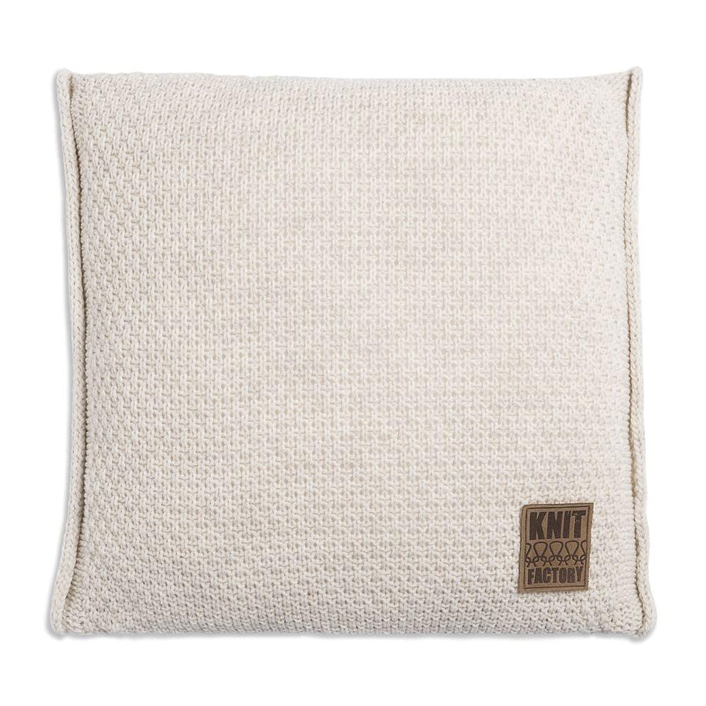knit factory 1091212 kussen 50x50 jesse beige 1
