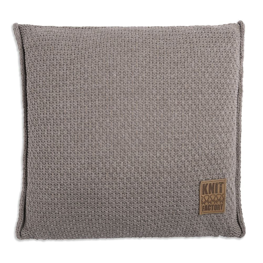 knit factory 1091229 kussen 50x50 jesse taupe1