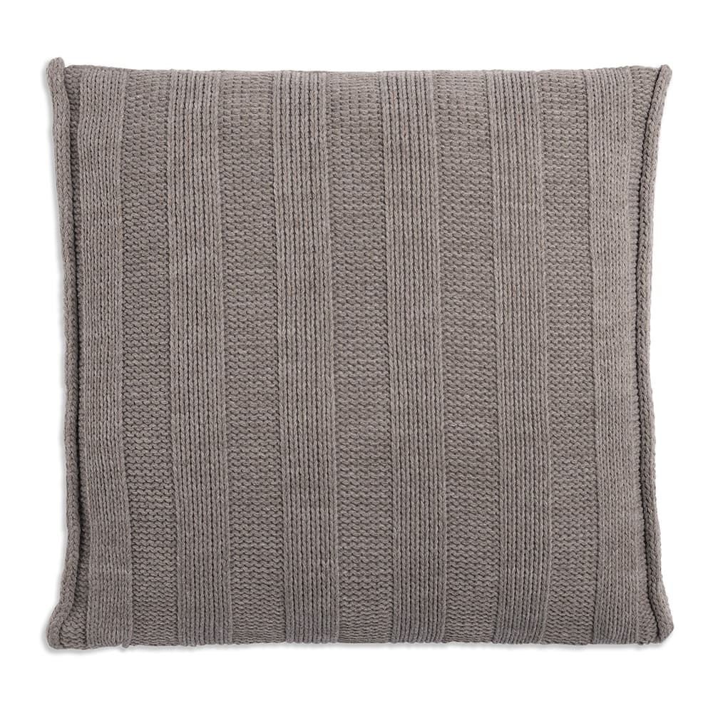 knit factory 1091229 kussen 50x50 jesse taupe 2