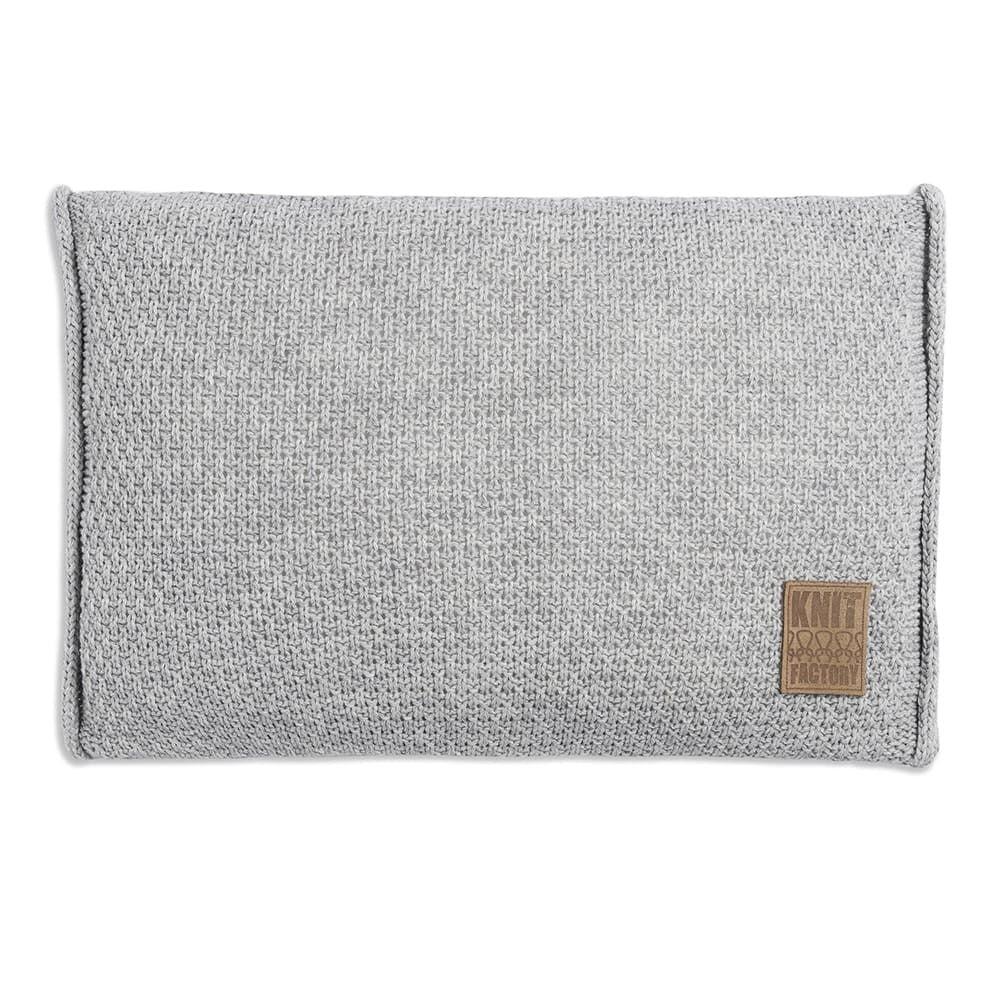 knit factory 1091311 kussen 60x40 jesse licht grijs 1