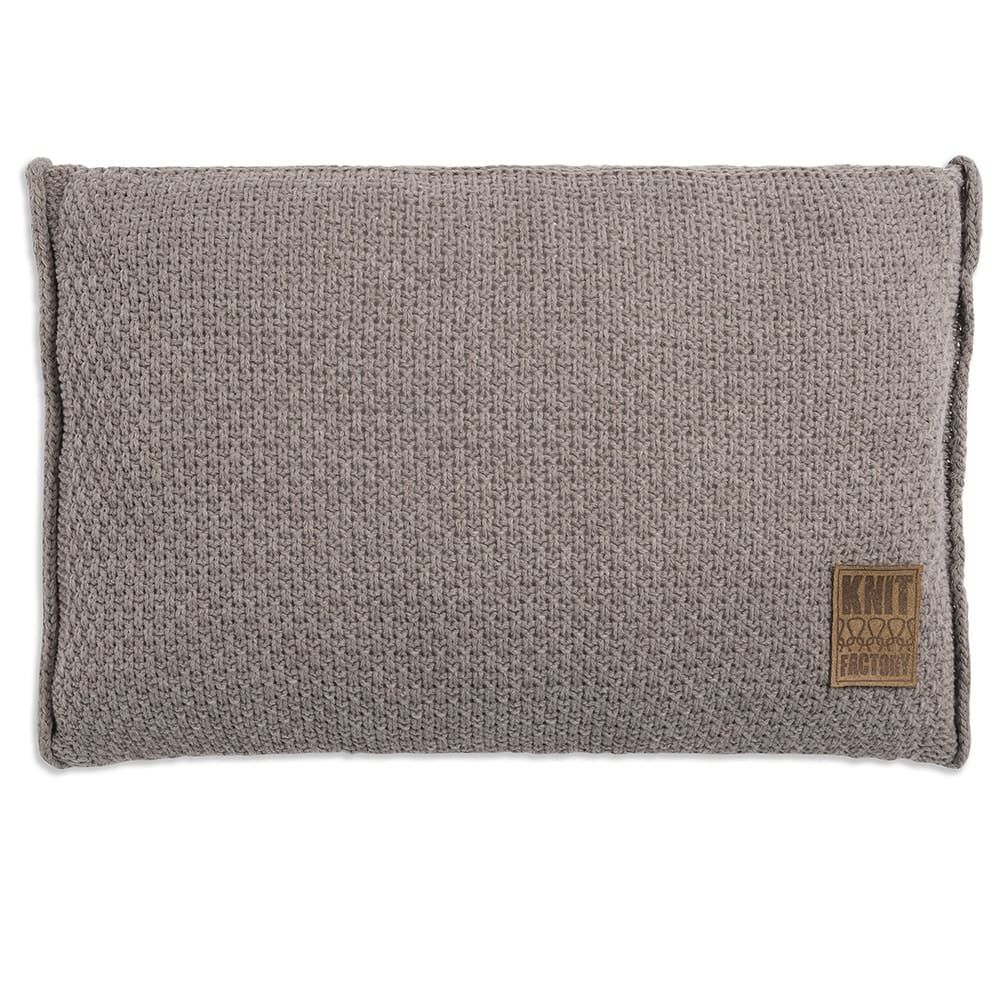 knit factory 1091329 kussen 60x40 jesse taupe 1