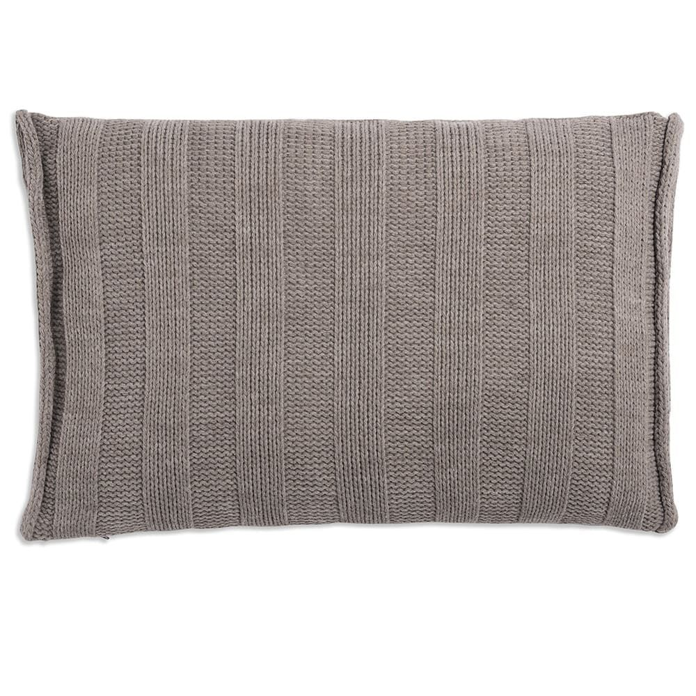 knit factory 1091329 kussen 60x40 jesse taupe 2