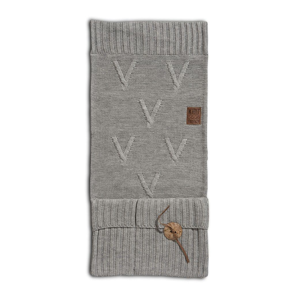 knit factory 1101011 pocket aran licht grijs