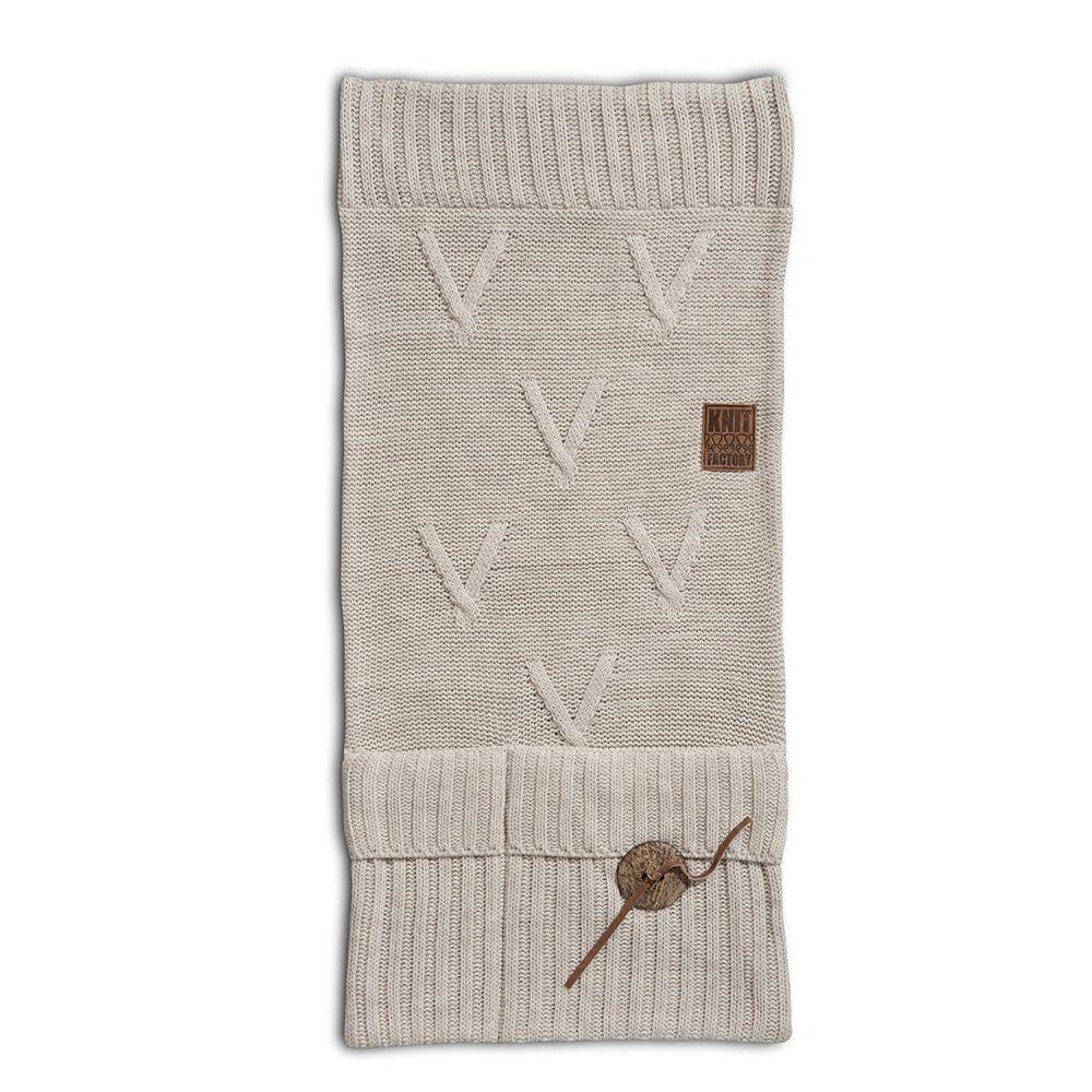 knit factory 1101012 pocket aran beige