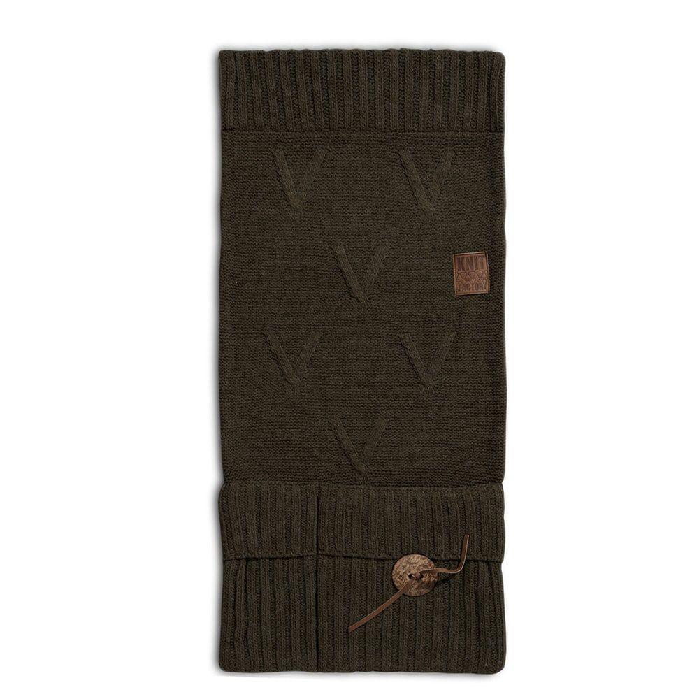 knit factory 1101014 pocket aran groen