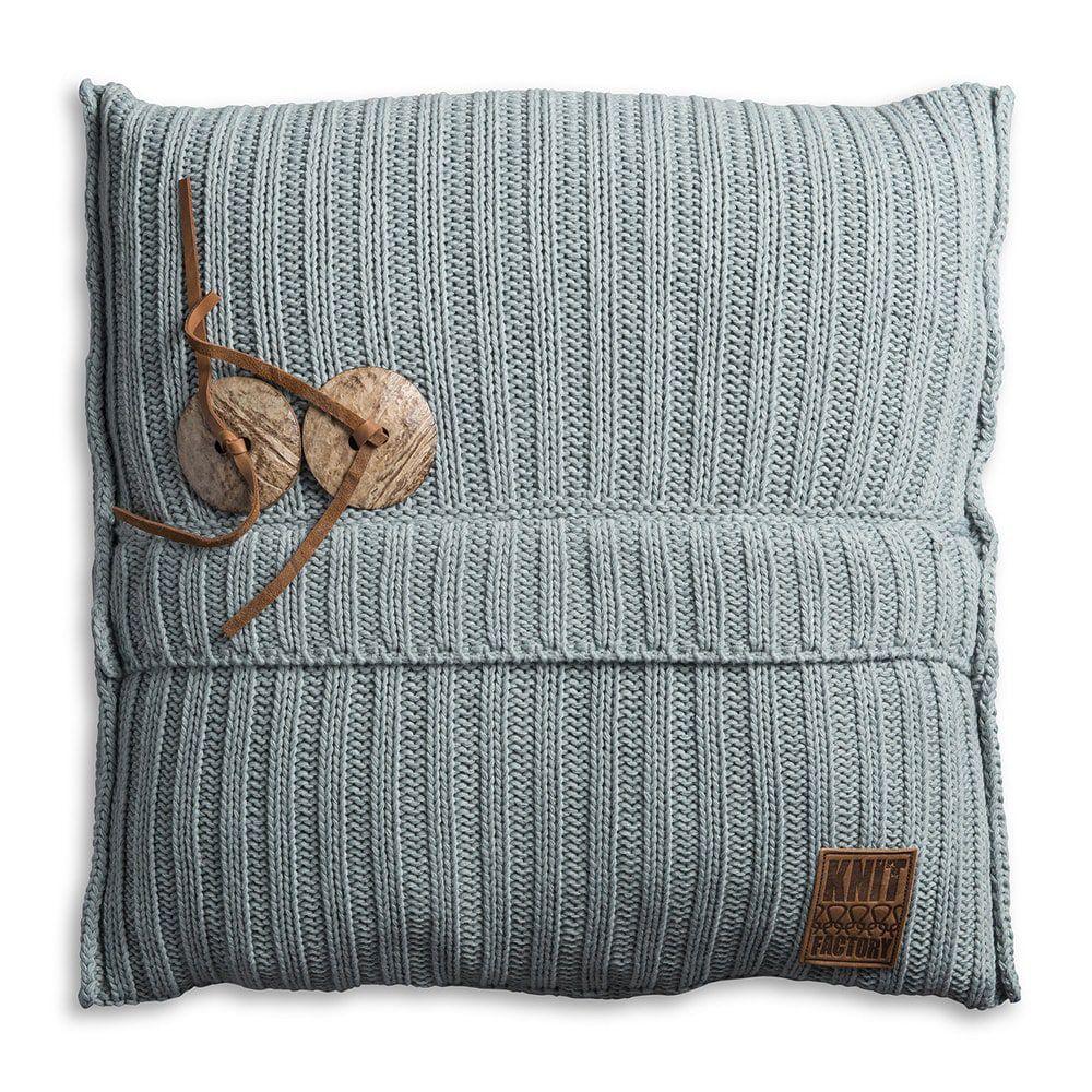knit factory 1101209 kussen 50x50 aran stone green 1