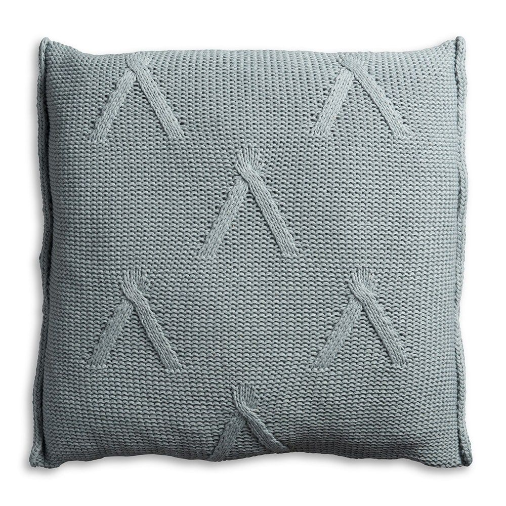 knit factory 1101209 kussen 50x50 aran stone green 2