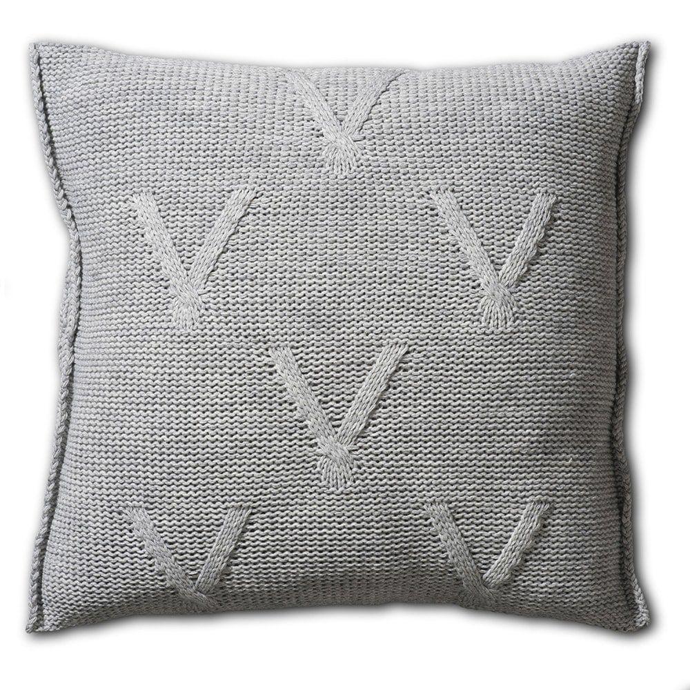 knit factory 1101211 kussen 50x50 aran licht grijs 2
