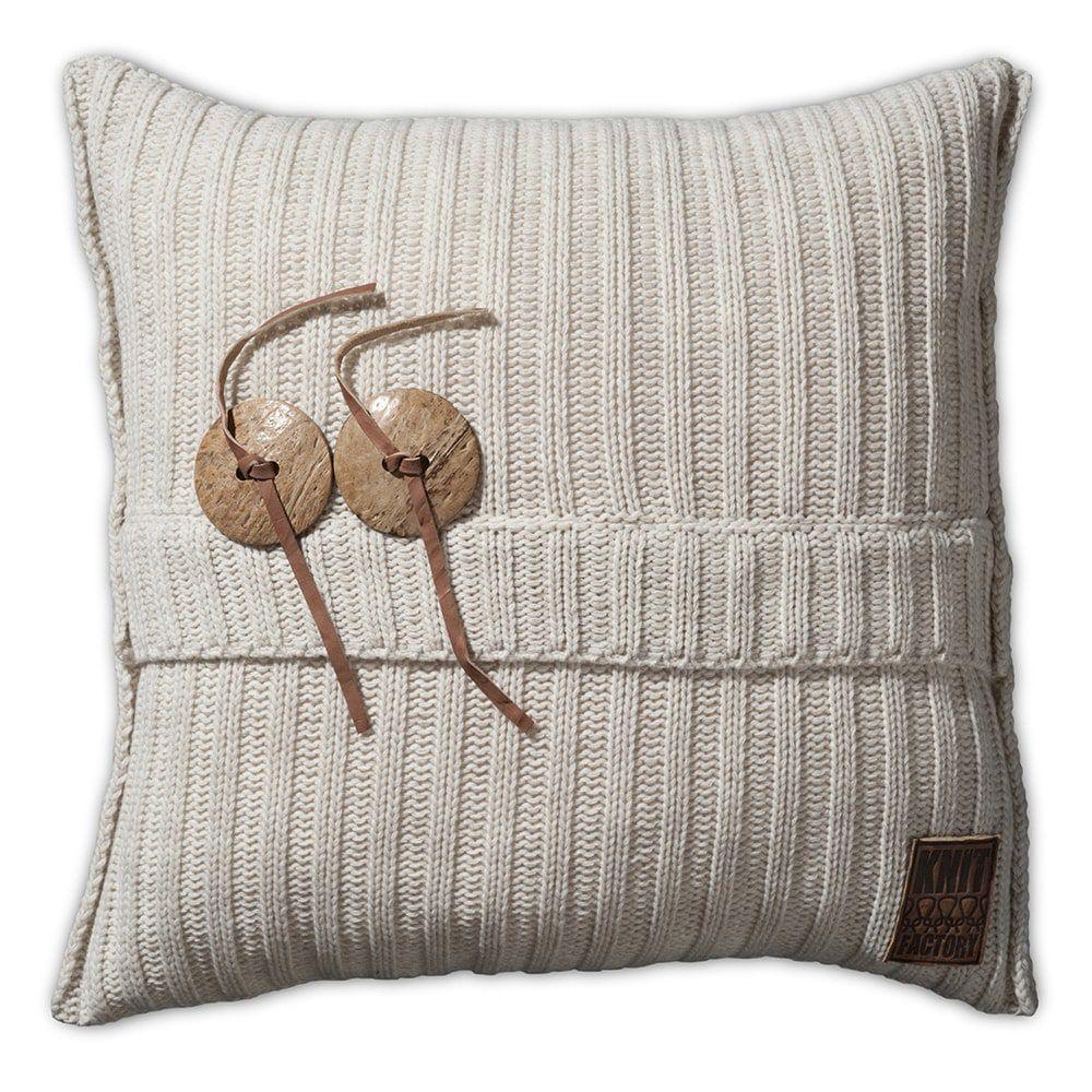 knit factory 1101212 kussen 50x50 aran beige 1