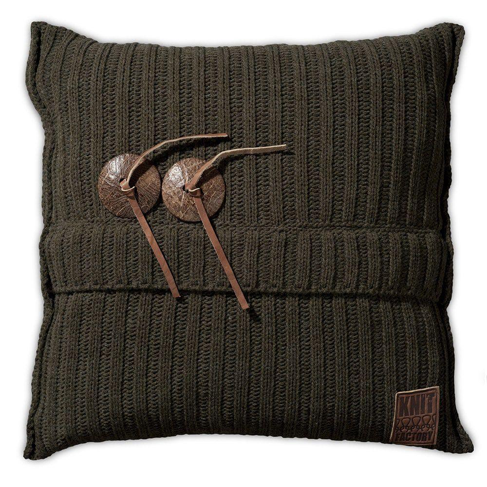 knit factory 1101214 kussen 50x50 aran groen 1