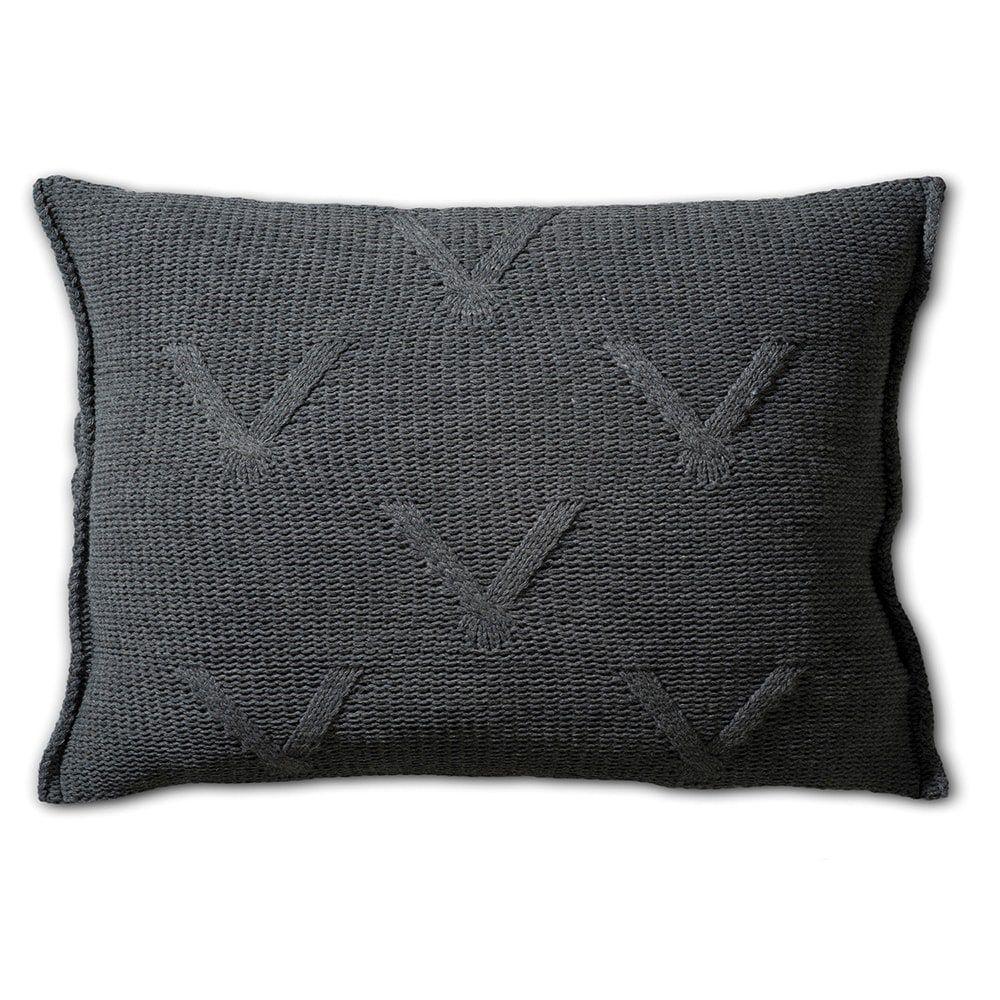 knit factory 1101310 kussen 60x40 aran antraciet 2
