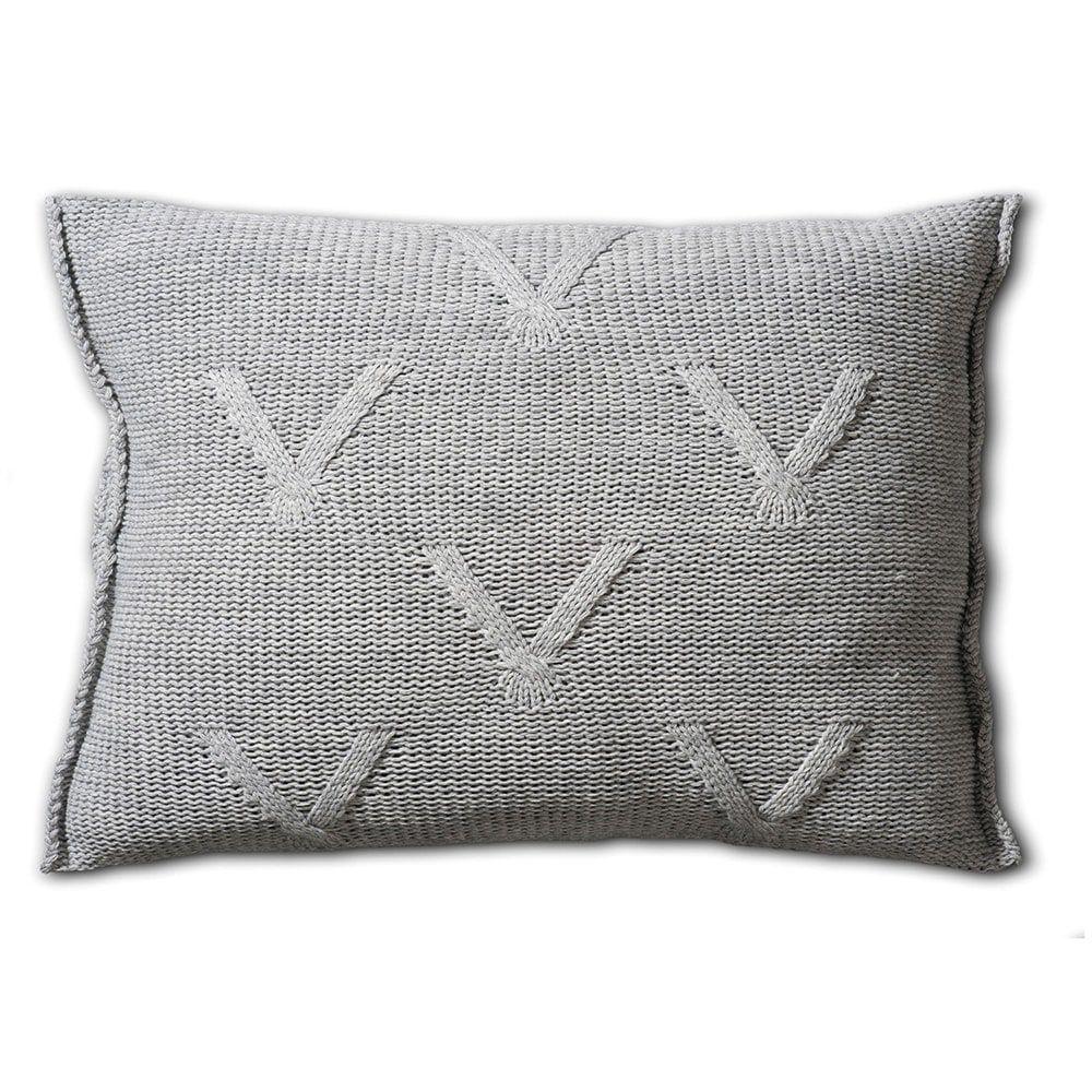 knit factory 1101311 kussen 60x40 aran licht grijs 2