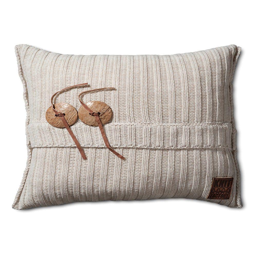 knit factory 1101312 kussen 60x40 aran beige 1